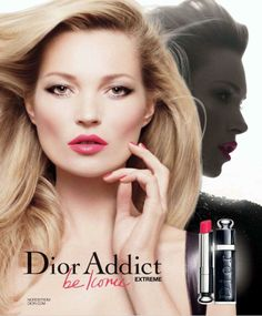 DIOR BEAUTY-  DIOR ADDICT SPRING/SUMMER 2012.  WITH MODEL-  KATE MOSS