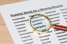 100 most powerful resume (or college application) words - it's all about verbs!