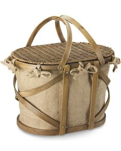 Grab this chic picnic basket and head to the park! Get it here: http://www.bhg.com/shop/williams-sonoma-jute-bent-wood-picnic-basket-p5162d0c7e4b01b925544f36c.html?mz=a