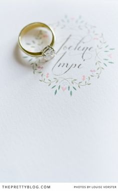 Nothing quite like a simplistic elegant ring, classic and timeless | Photographer: Louise Vorster Photography,  Stationery : Pistachio Designs