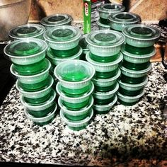 Key lime pie jello shots. Just replace 1 cup cold water with cake or whipped cream flavored vodka.  So yummy!