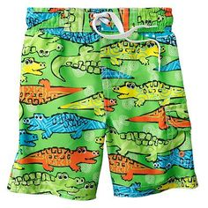 Jumping Beans Crocodile Cargo Swim Trunks. Sure wish these were still available, they are perfect for Max's party! allig parti, max parti, crocodil