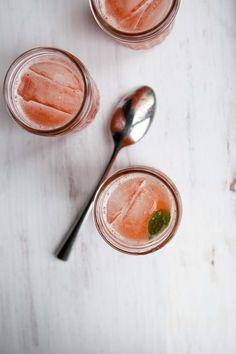 strawberry basil lemonade. sounds delicious!