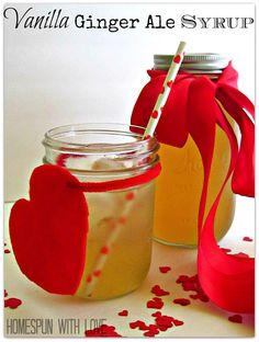 Vanilla Ginger Ale Syrup Recipe