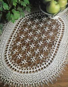 Crochet Art: Oval Tablecloth - Crochet Lace Doily