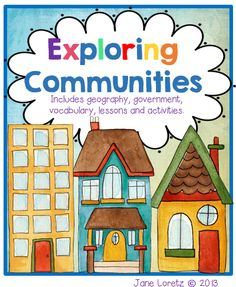 Great activities and lessons to go along with a study on communities.