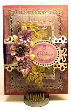 I Believe in You by Gini Williams Cagle: Heartfelt Creations stamps, dies and paper