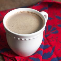 Paleo Pumpkin Spice Latte recipe. Also, the process for roasting a pumpkin, whole. #paleo