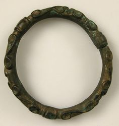 Copper alloy bracelet with a spiral design.    Celtic, 2nd century B.C.    Source: Metropolitan Museum of Art celticart