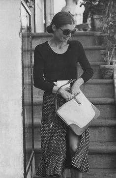 Jackie Kennedy in Capri, 1970.