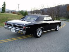 1967 Chevrolet Chevelle coupe SS / Super Sport 396 cid big block with polished American Racing Torq Thrust II wheels