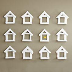 Very Cute Wall Decor | Wood Shim Birdhouse