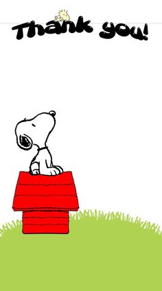Snoopy says Thank You!