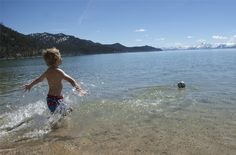Tip for that first dip into Tahoe: sprint into the water. It's liberating. #spring