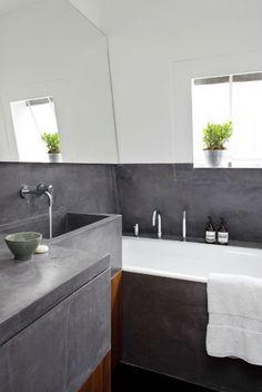 cement-perfect! >> http://www.improvisedlife.com/wp-content/uploads/2013/02/cement-bathroom-walls.jpg