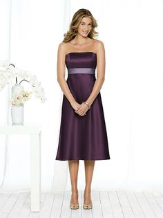 Eggplant bridesmaid's dress