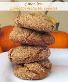 A recipe for tasty pumpkin molasses cookies that is gluten free and vegan. A warm and wonderful fall cookie!