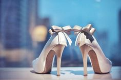 high heels with bows