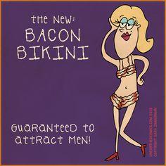 The new bacon bikini... #newlywedsurvival