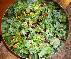 cats, almonds, salad recipes, cranberry salad, kale recipes, apple cider vinegar, apples, kale salad, cranberries