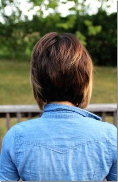 View of a Graduated Bob Hairstyle