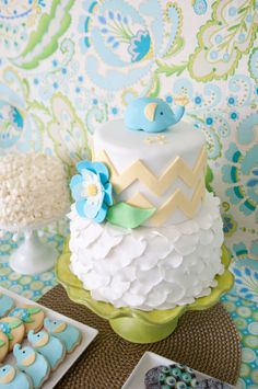 Baby Elephant Cake Topper. $30.00, via Etsy.