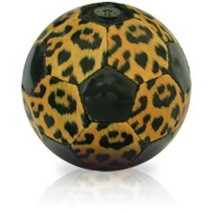 Any girl will love this leopard soccer ball!