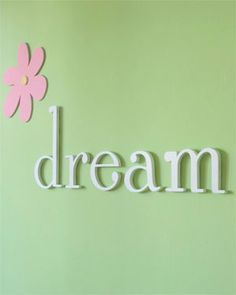 Heart to Heart 'Dream' Wooden Wall Decor Letters