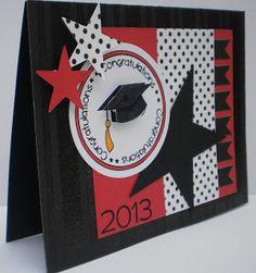 graduat card, card designs, grad card, graduation cards ideas, graduation card ideas, school color