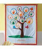 growth handprint quilt