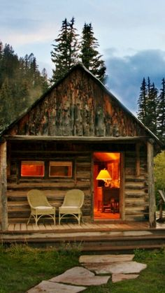 At the cabin