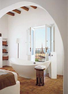 White #Spanish #Bathroom