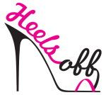 Our sexy logo - Heels Off - flip flops for guests! www.heelsoff.com