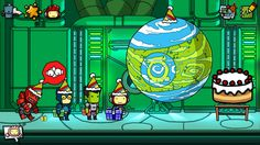 It's a party for Mogo! At least he's socializing... #Scribblenauts #ScribblenautsUnmasked #DCComics #GreenLantern