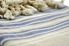 Turkish Towel Store - Turkish Towel Pestemal - Linen and Dark Blue Striped , $36.90 (http://www.turkishtowelstore.com/products/turkish-towel-pestemal-linen-and-dark-blue-striped.html)