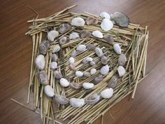 Straw and shells-Goldsworthy project