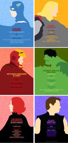 Minimalist #Avengers by tifferini-graphic...