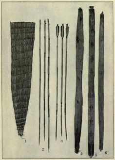quiver, arrows and bows, Klamath Lake and Modoc Indians of Northeastern California and Southern Oregon