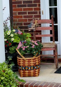 Patriotic porch decor
