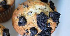 Hot Chocolate Oreo Muffins   KitchenDaily.com