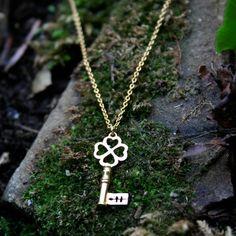 alex monroe garden key necklace