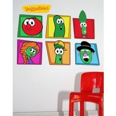 Veggie Tales Character Collage Wall Mural Kit