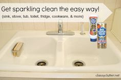 My secret weapon for cleaning your sink, toilet and bathtub - Classy Clutter