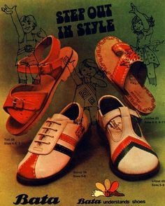 Vintage Bata Step out in Style Advertising