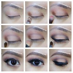 Warm smoky eyes with