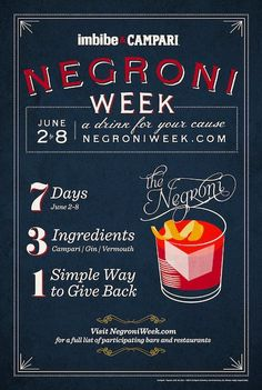 Each participating establishment is asked to designate a portion of proceeds from each Negroni sold — typically $1 or $2 — to a charity of its choice. Campari America will donate $10,000 to the charity of the bar or restaurant that raises the most money.