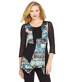 From the Heart Batik Milly Tunic #Dillards. Love the colors and design! color, tunic dillard, milli tunic