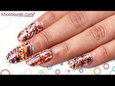 Dots and Stripes Nail Art By Khoobsurati.com