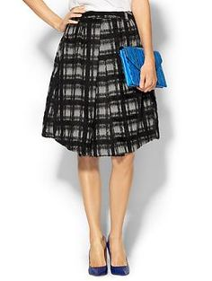 Press Brushed Plaid Skirt   Piperlime