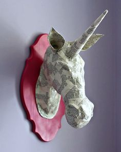 Make a paper mache animal head. ~ Mod Podge Rocks!